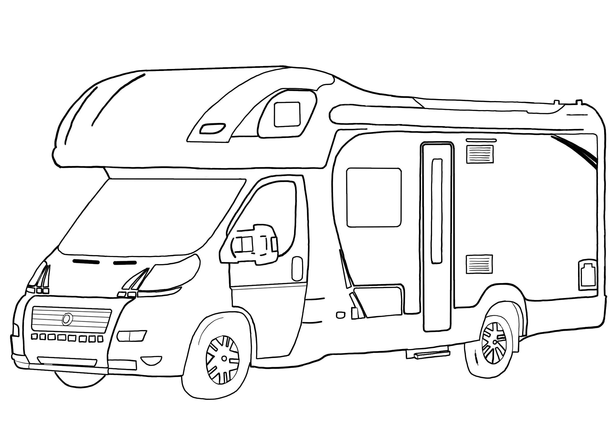 Drawing of Campervan